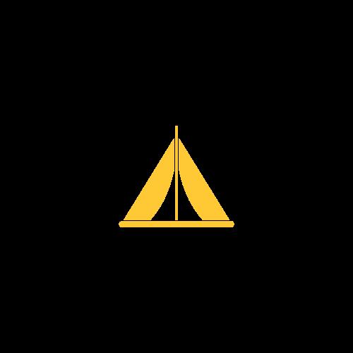 tente camping jaune